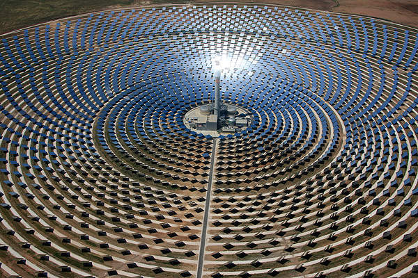 The Gemasolar concentrated solar power project was inaugurated in October 2011. Image courtesy of Sener Group.