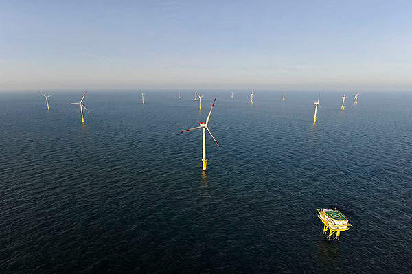 The Borkum West II wind farm is located 45km offshore Borkum Island, Germany. Image courtesy of Trianel.