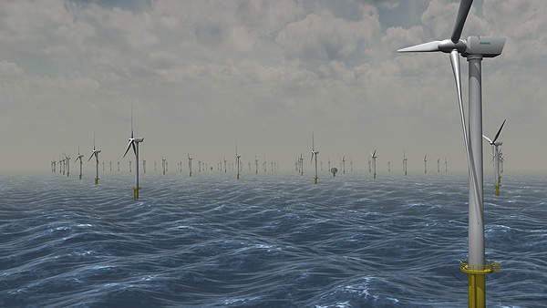 The 315MW Sheringham Shoal wind farm off the coast of Norfolk consists of 88 turbines. Image courtesy of Scira Offshore Energy.