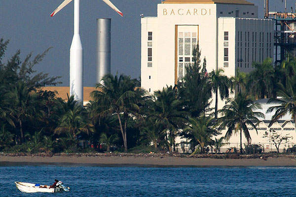 The 500kW wind farm built by Aspenall Energies produces renewable power for Bacardi's distillery.