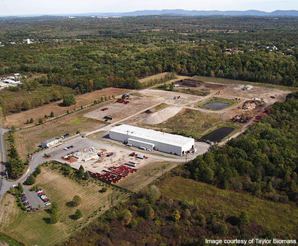 The Montgomery Biomass Power Plant is being constructed on a 95-acre existing site of Taylor Recycling. Image courtesy of Taylor Biomass Energy.