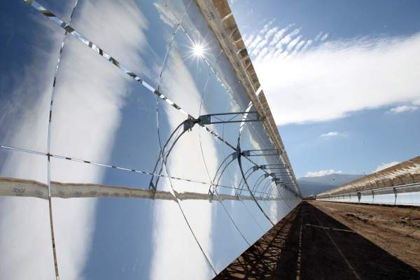 The Skal-ET model of parabolic trough collectors being used at Andasol Power Plants.