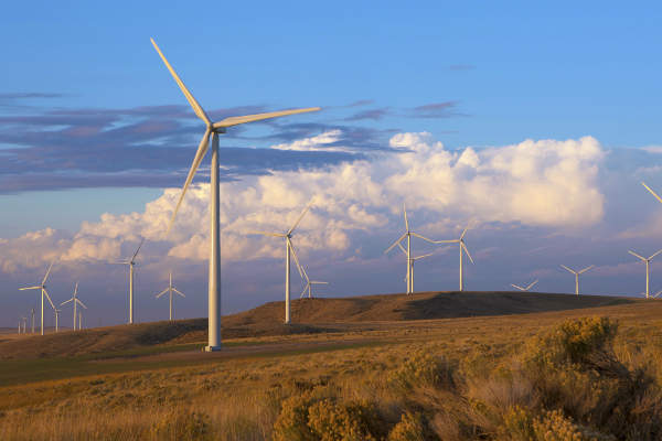 Goshen North Wind Farm is the biggest wind farm in Idaho. Image courtesy of BP Wind Energy/Marc Morrison.