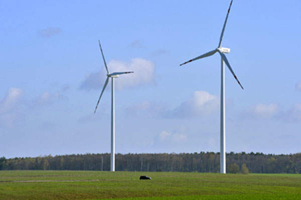 The 38MW Golice wind park is located in Lubuskie, Poland.
