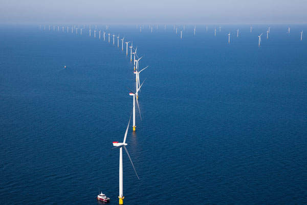 Anholt Offshore Wind Farm is the biggest offshore wind project in Denmark.