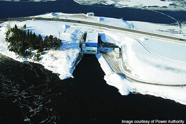 The 12.5MW Lac Seul hydroelectric power plant is located on the English River in Ear Falls, Ontario.
