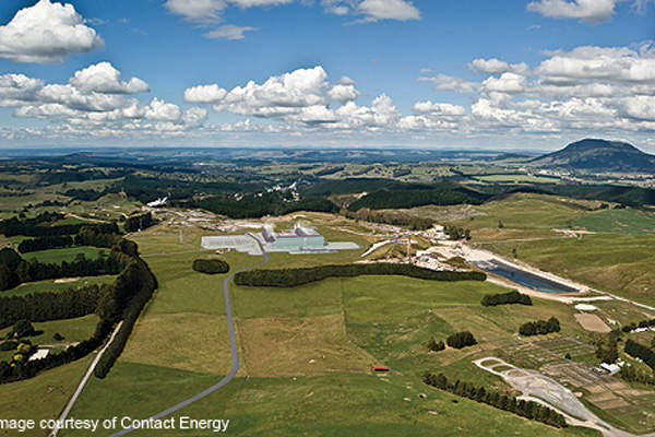 The 166MW Te Mihi geothermal power plant is located on the Wairakei geothermal steamfield in Taupo, New Zealand.