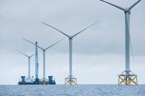 The Ormonde offshore wind farm is located in the Irish Sea, 10km off the Cumbria coast in the UK. Image courtesy of Vattenfall.