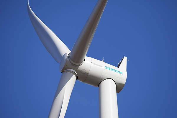 Siemens supplied 90 wind turbines for the Snowtown Wind Farm stage two. Image courtesy of www.siemens.com/press.