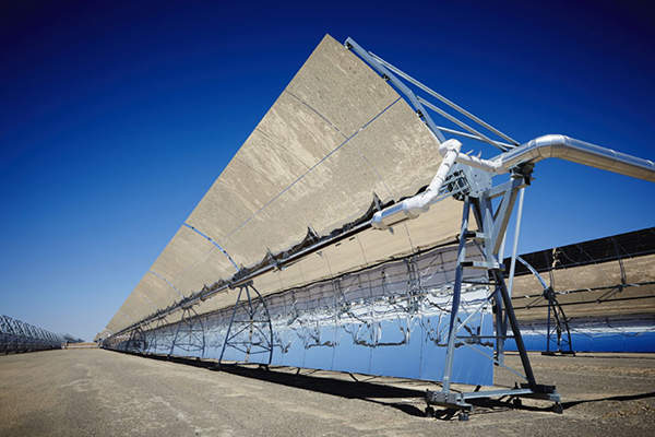 KaXu Solar One is the first concentrated solar power (CSP) plant in South Africa to use the parabolic trough technology. Image: courtesy of Industrial Development Corporation (IDC).