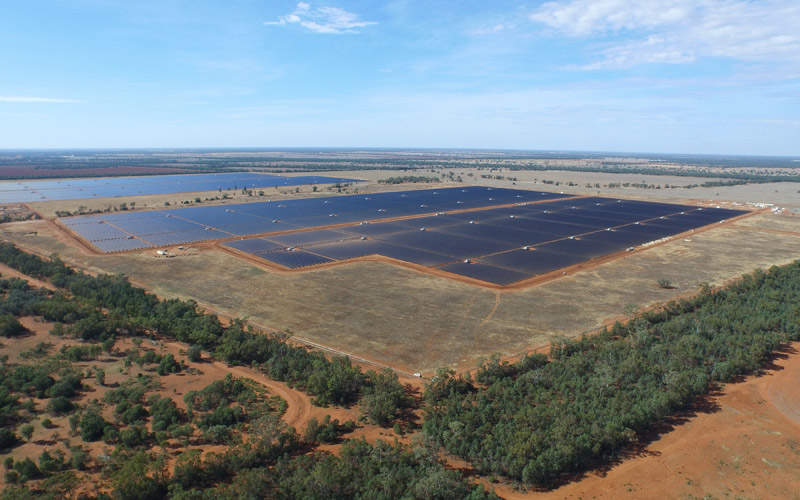 The Nyngan solar plant is touted to be the biggest of facility of its kind in the Southern Hemisphere. Image courtesy of AGL.