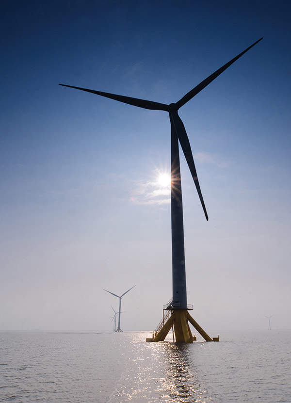 The Jiangsu Rudong offshore wind farm is installed with 58 wind turbines. Image courtesy of Siemens.