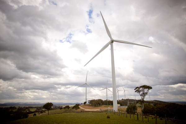 The wind farm is the first of its kind owned and operated by Origin Energy. Image courtesy of Origin Energy.