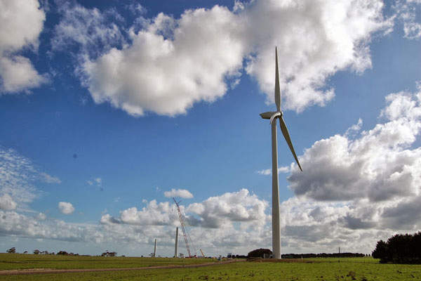 A total of 64 REpower MM92 model turbines of 2.05MW each are installed at the wind farm.