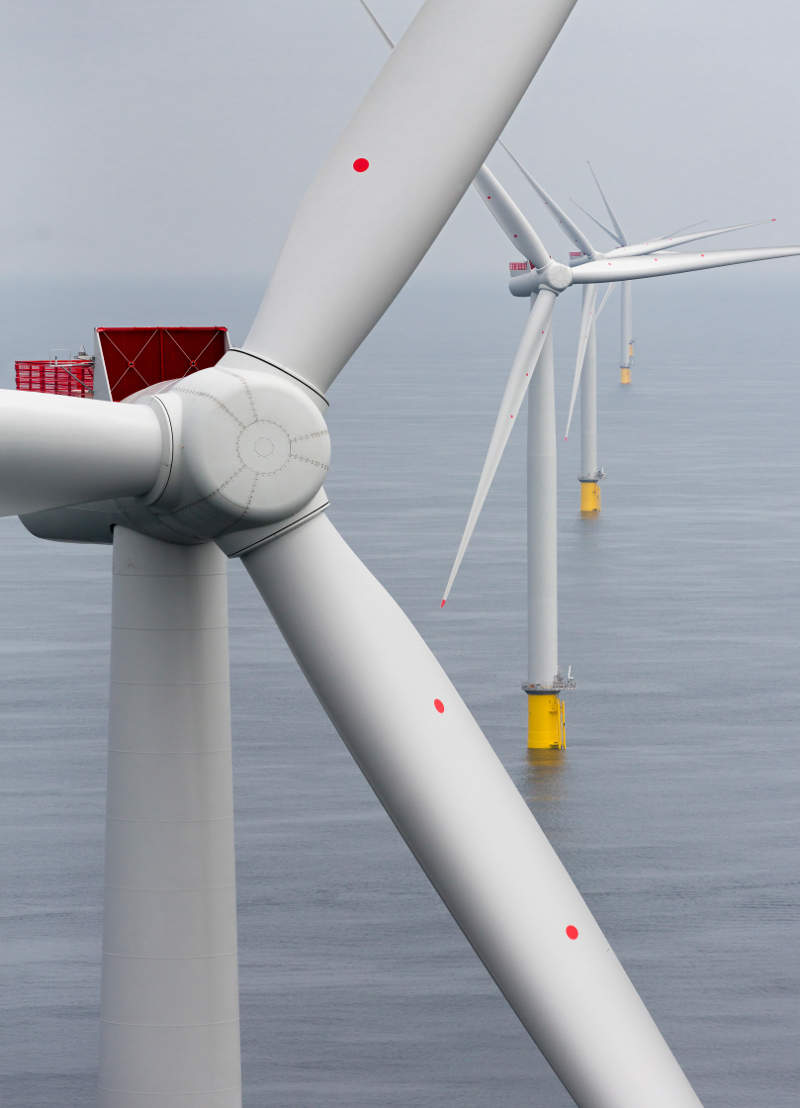 The turbines are installed in a water depth between 8m and 18m. Image courtesy of Siemens.