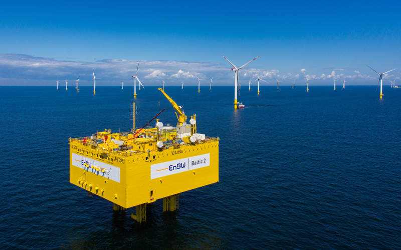 The 4,400t offshore substation platform was constructed by Alstom. Image: courtesy of EnBW Energie Baden-Württemberg.