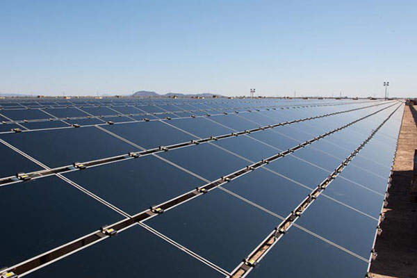 The plant will have an installed capacity of 290MW. Image courtesy of First Solar.