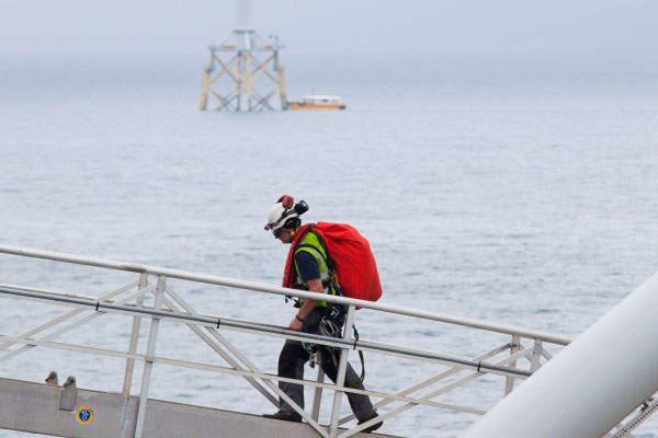 The 150MW offshore wind farm consists of 30 REpower wind turbines. Image courtesy of Vattenfall.