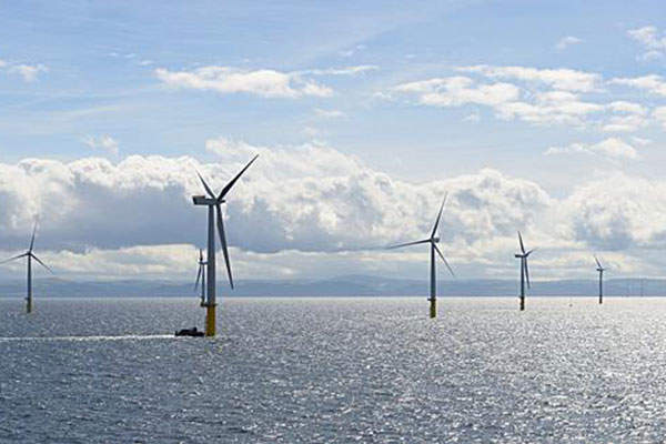 Each of the 160 wind turbines rises 150m above the mean sea level. Image: courtsey of RWE Innogy.