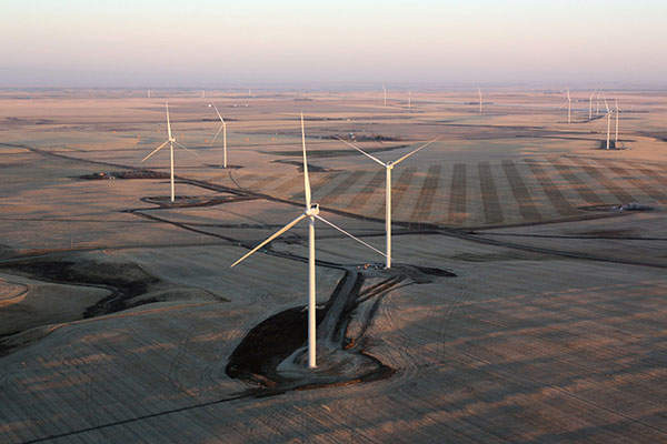 The wind farm is owned by EDF EN Canada (50%) and Enbridge (50%). Image: courtesy of Enbridge.