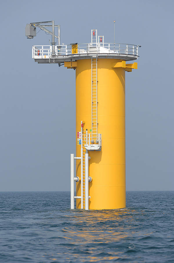 The foundation for turbines at Sheringham Shoal. Image courtesy of Scira Offshore Energy.
