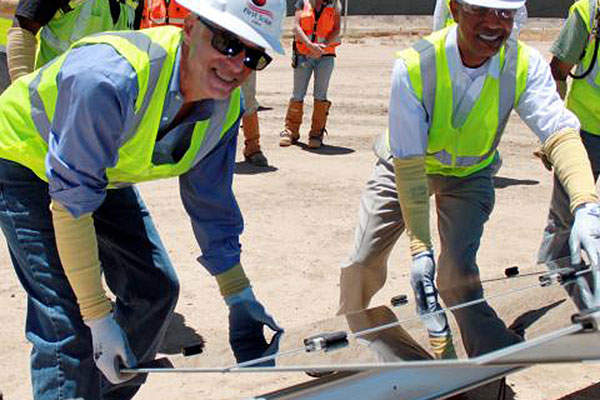 Initial construction of the renewable project began in August 2011. Photo: Business Wire.