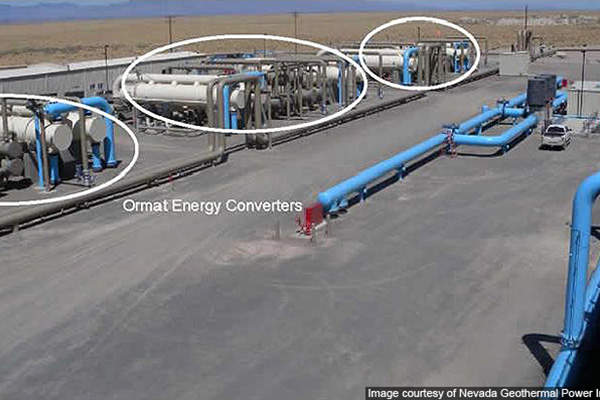 The Faulkner 1 has three energy converters supplied by Ormat.