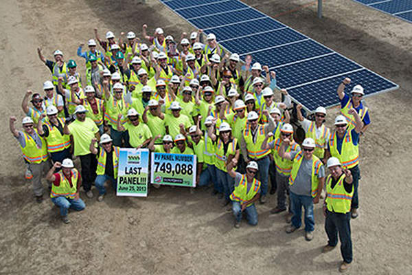 The $1.6bn project began full commercial operations in October 2013. Image courtesy of SunPower Corporation.