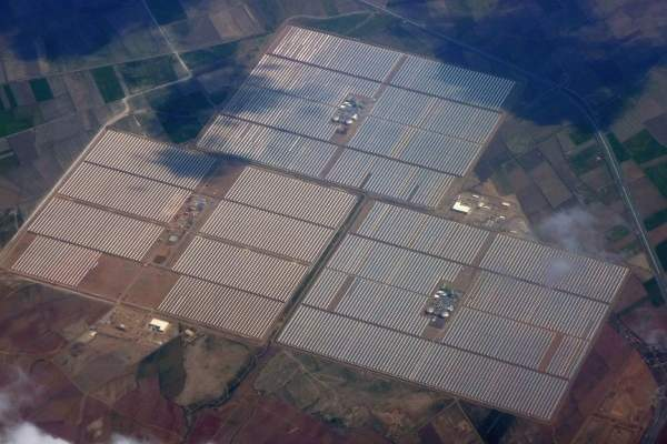 Andasol power plants are located at Grenada, Spain. Image courtesy of Solar Millennium.