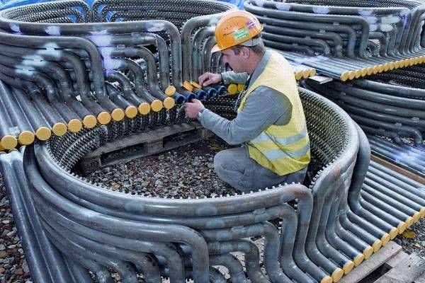 The woodchips storage and handling system was built by Geldof Metaalconstructie. Image:  courtesy of Bilfinger.