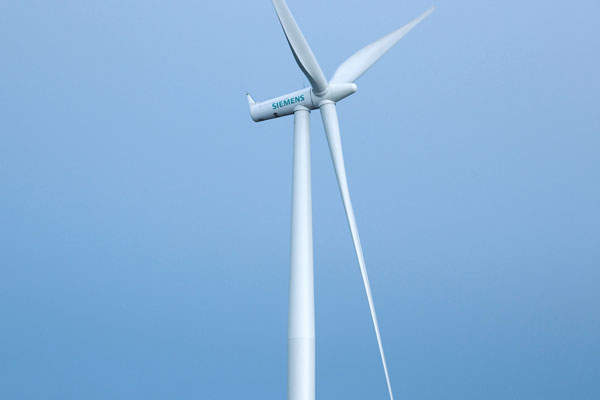 The wind farm is installed with 124 Siemens SWT-2.3-101 wind turbines. Image: courtesy of Siemens AG.
