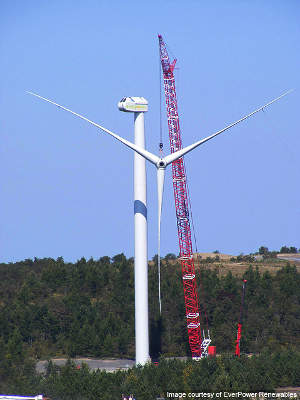 Each turbine of the Buckeye wind farm will generate 2.5MW of electricity. Image courtesy of EverPower Renewables.