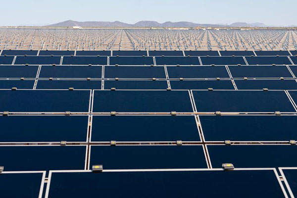 Agua Caliente plant will generate 626.2GWh of electricity per annum. Image courtesy of First Solar.