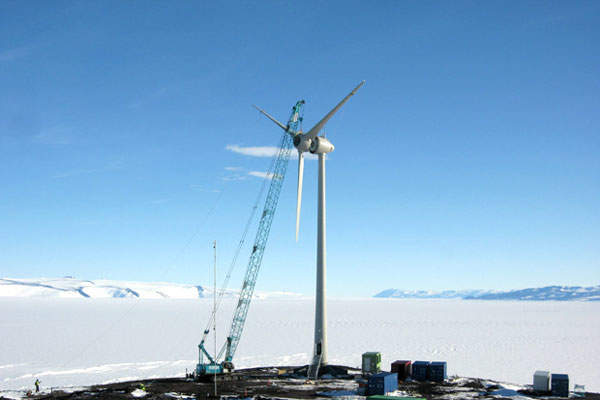 The construction of Ross Island wind farm commenced in November 2008 and the project became operational in 2010.