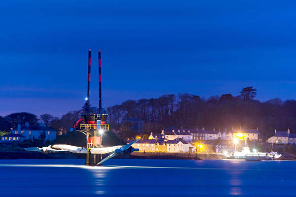 The tidal facility supplies electricity to 1,500 homes in Northern Ireland and the Republic of Ireland annually. Image courtesy of www.siemens.com/press.