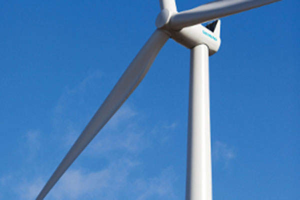 The three-bladed wind turbines at the wind farm are mounted on 80m-high towers and have a rotor diameter of 101m.