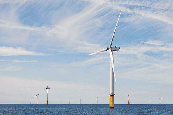 Gwynt y Môr is the world's second biggest offshore wind farm. Image: courtesy of www.siemens.com/press