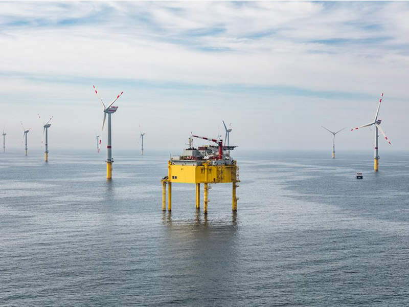 The 9,000t offshore substation was delivered by the consortium of Alstom Grid and Keppel Verolme. Image: courtesy of Global Tech I.