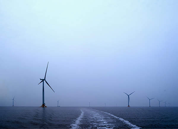 The Jiangsu Rudong offshore wind farm was built in two phases of 100MW and 50MW each. Image courtesy of Siemens.