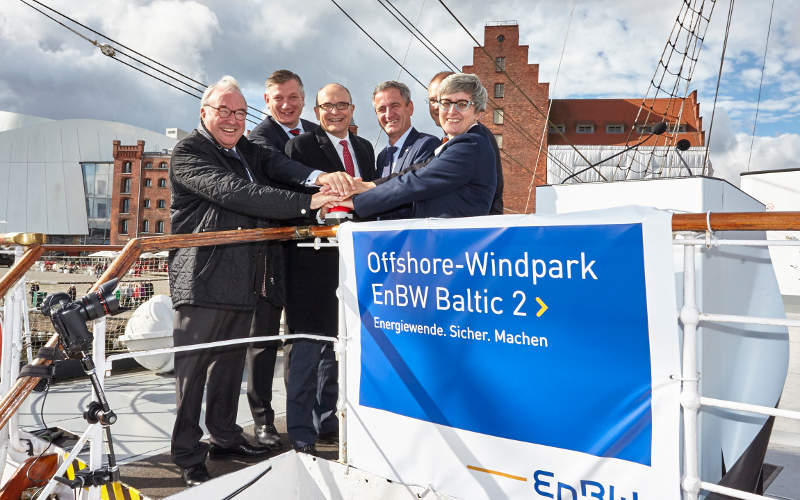 EnBW Baltic 2 offshore wind farm was commissioned in September 2015. Image: courtesy of EnBW Energie Baden-Württemberg.