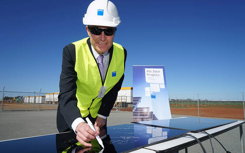 The first solar panels for the project were installed in July 2014. Image courtesy of ARENA.