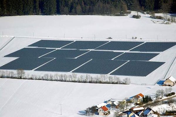 The Bavaria Solarpark in Germany has a total installed capacity of 10.1MW.
