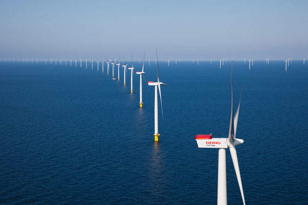 The Anholt wind farm has an installed capacity of 400MW.