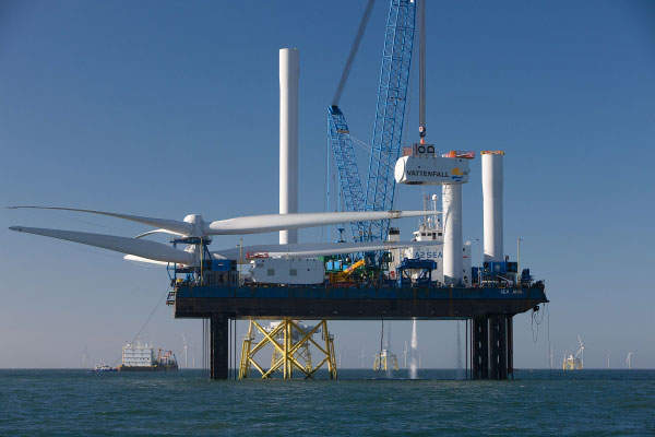 Offshore works on the Ormonde wind farm began in May 2010. Image courtesy of Vattenfall.