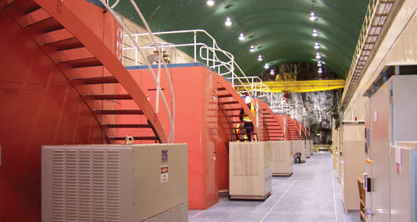 Interior of the Bogong hydropower station. Image courtesy of AGL Energy.