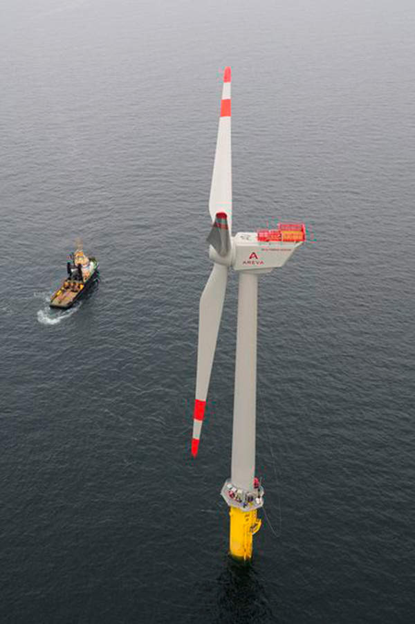 The Borkum West II wind farm will comprise of 80 turbines installed in two phases of 40 each. Image courtesy of Trianel.