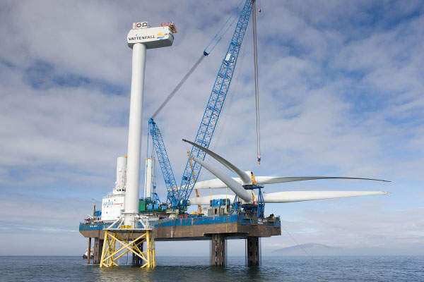 The last wind turbine was installed in August 2011 and the project was commissioned in February 2012. Image courtesy of Vattenfall.