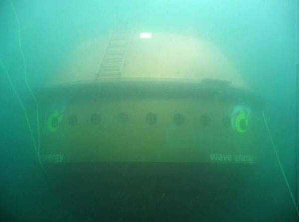 The CETO unit is completely submerged and hence causes no visual impact. Image courtesy of Carnegie Wave Energy Limited.