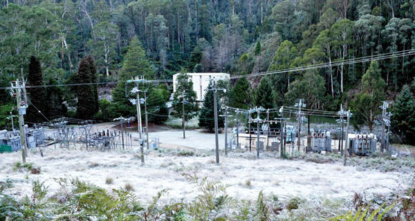 The power output from the project is transmitted to the substation at Mt Beauty terminal. Image courtesy of AGL Energy.