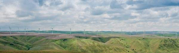 Panoramic view of the Lower Snake River wind farm. Image courtesy of Puget Sound Energy.